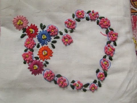 Hand Embroidery- French Knots Stitch - YouTube