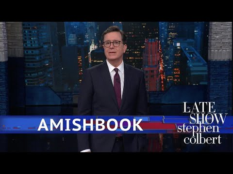 Stephen Colbert vs. Launches A Facebook Alternative vs. Amishbook