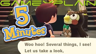 5 Minutes of Animal Crossing: New Horizons Gameplay (Dodo Airlines, Museum, Online, & More!)