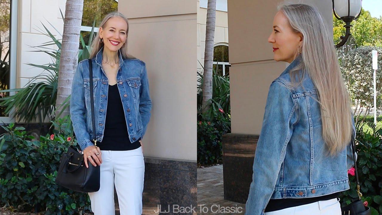 a7449ee84f3 Denim Jacket, Black Tee, Khaki Pants OOTD / Classic Fashion, Style Over 40,  50