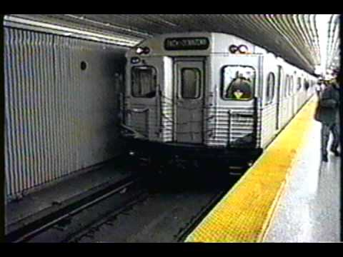 Toronto Transit Commission TTC M-1 Subway Train at Finch Station - YouTube