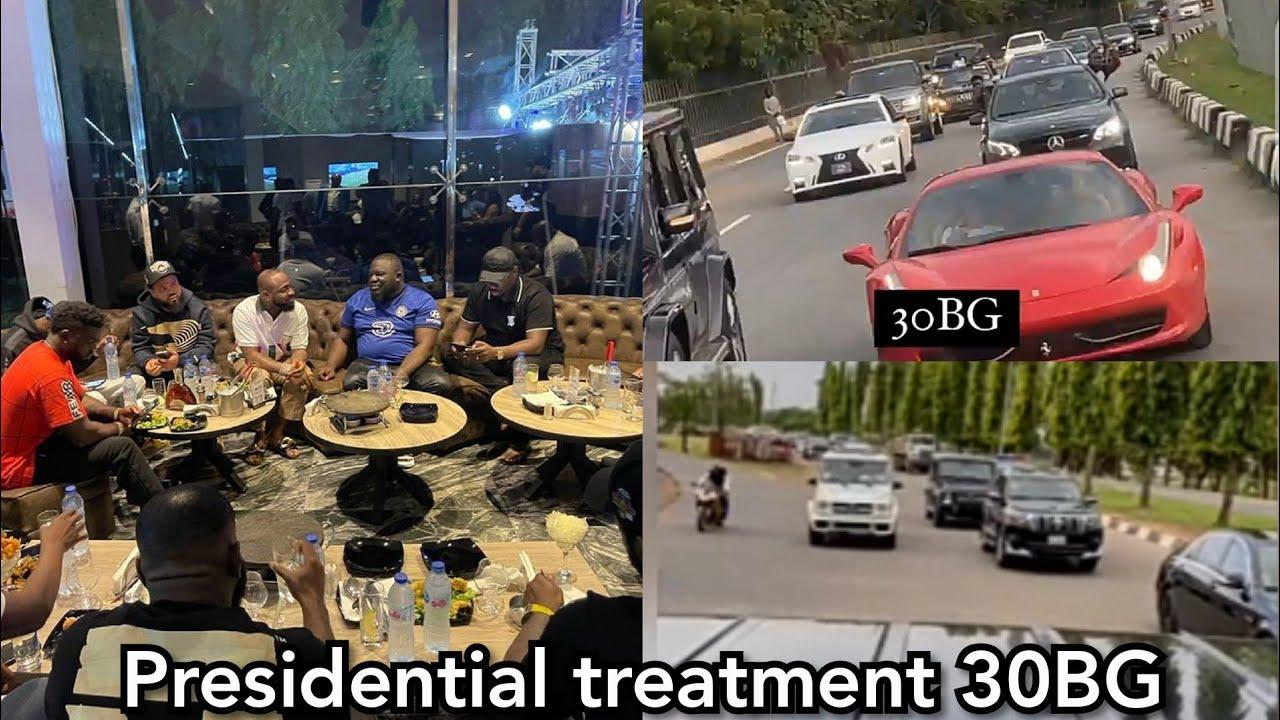 Obi Cubana and Davido shutdown Abuja with their Convoy and performance