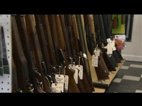 Gun shops report heavy business