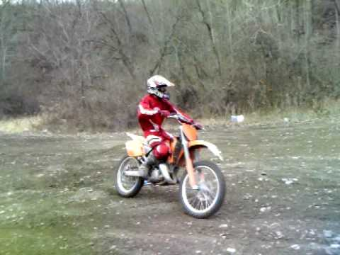 2002 ktm 125 sx hillclimb - youtube
