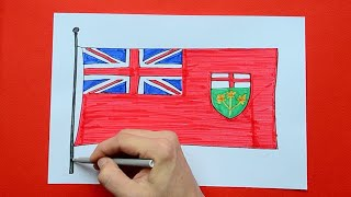 How to draw and color the Flag of Ontario, Canada