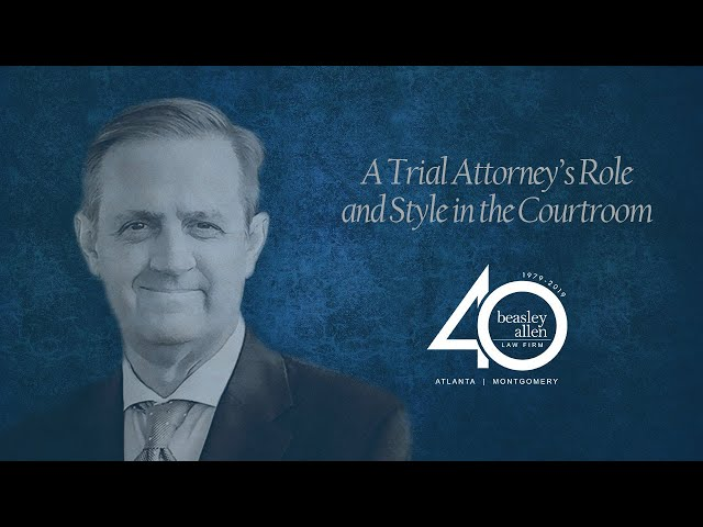A Trial Attorney's Role and Style in the Courtroom With Attorney Cole Portis