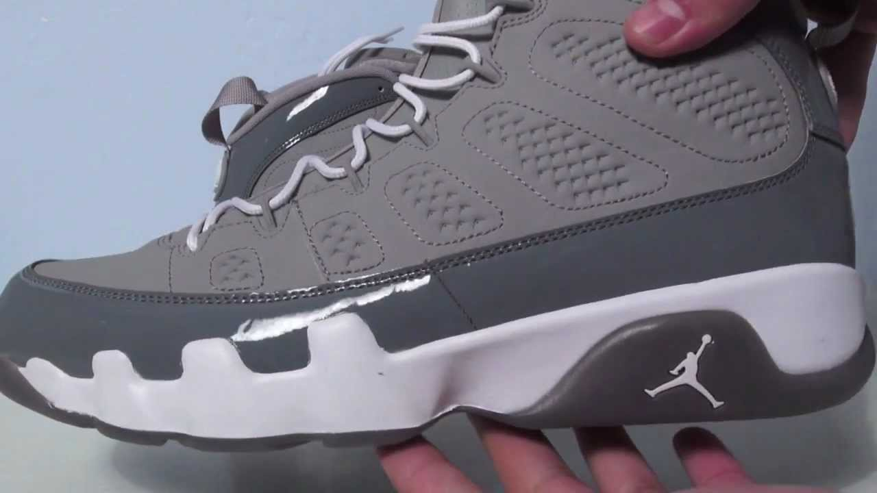 131a9a18ad4 Air Jordan 9 (IX) Cool Grey 2012 - YouTube