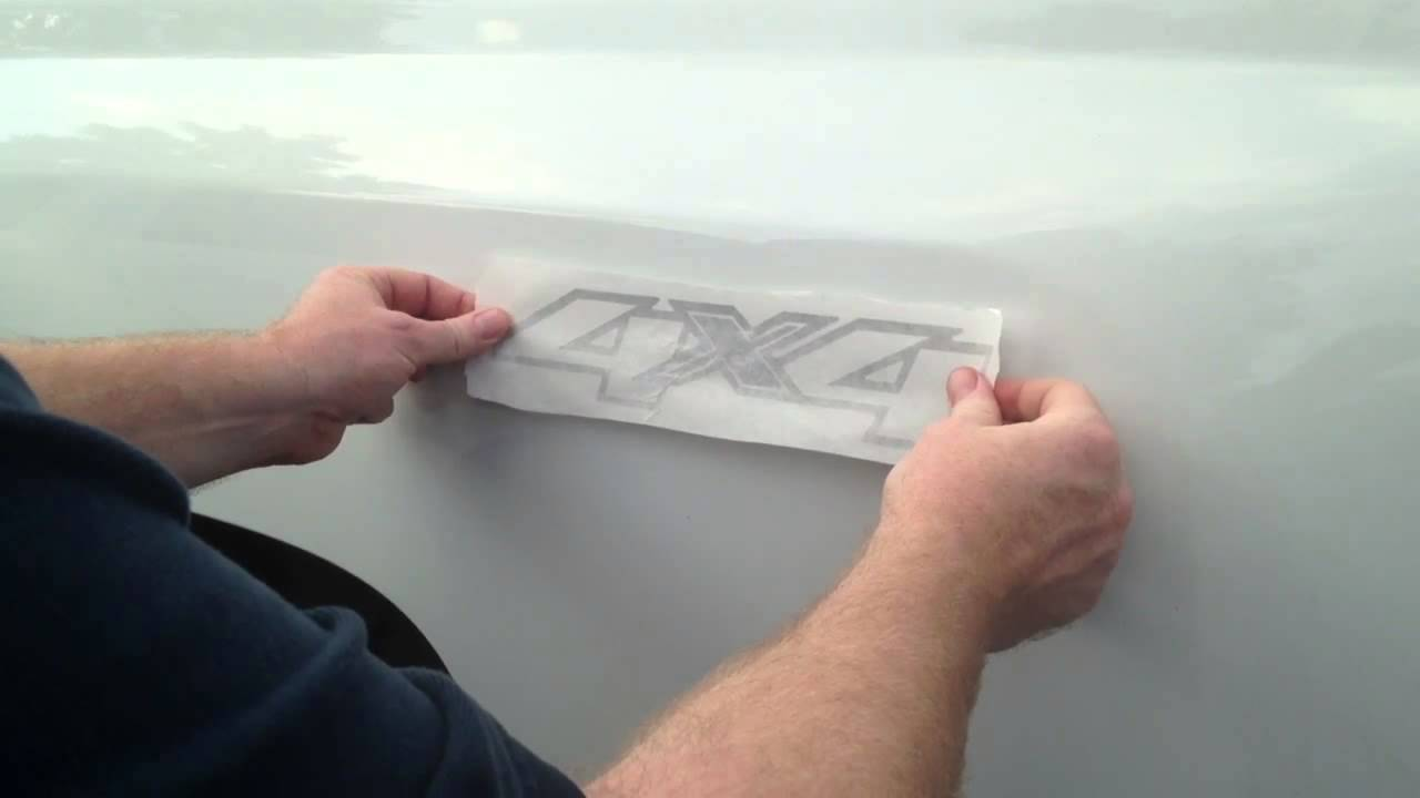 Sticker Installation On A Chevy 2500hd Pickup Truck Bed Youtube