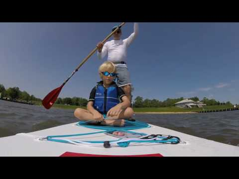 Taking Kids Out Paddleboarding High Wind