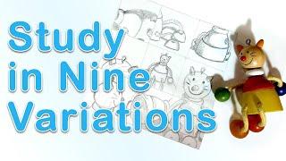 Art Fundamentals - Study In Nine Variations