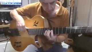 Haitian Fight Song with Marchesini archtop Excel Bass with Lightwave optical pickups