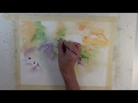 'Flowers and Foliage' Watercolor Negative Painting Demonstration