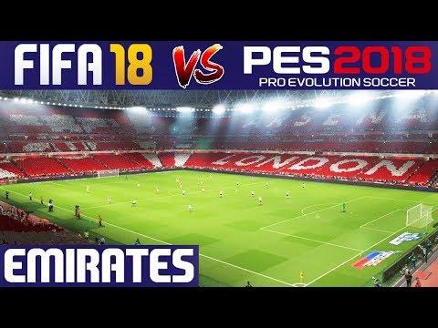FIFA 18 VS PES 18 Graphics Comparison: Emirates Stadium (Arsenal)
