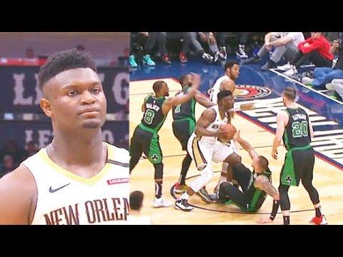 Zion Williamson Bullies Celtics & Crazy Putback Dunk! Pelicans vs Celtics