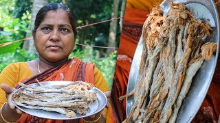 Dry Fish (Sea Fish) Cooking Recipe by Village Food Life