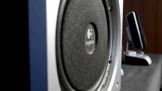 How to remove Logitech Z3e grill + subwoofer excursion bass test