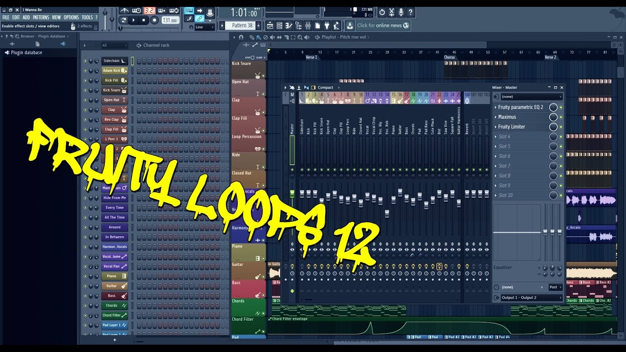 My First Beat on Fruity Loops 12 / FL 12 with Standart Vst ...