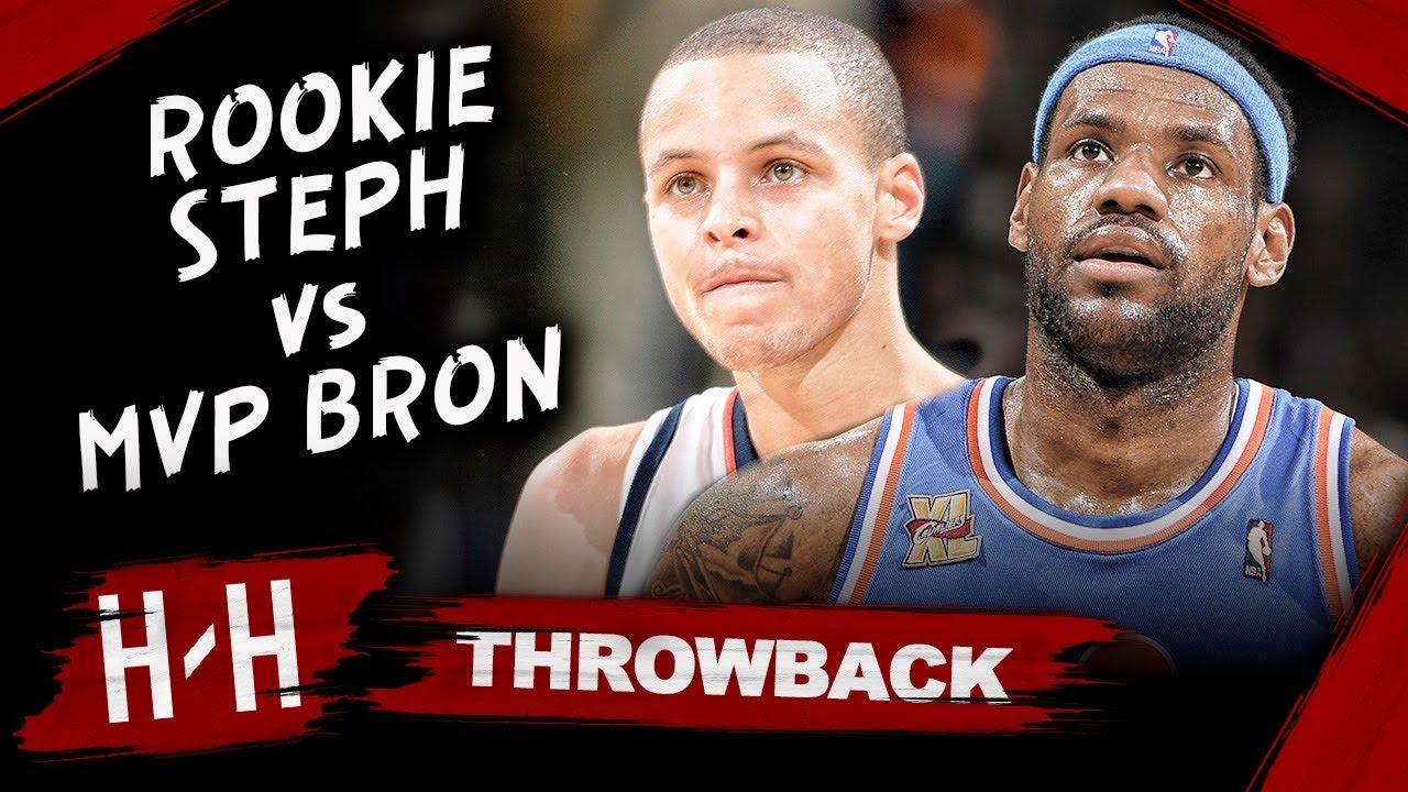 8945e98de5b1 MVP LeBron James vs Rookie Stephen Curry EPIC Duel Highlights (2010.01.11)  - LBJ Blocks Steph!