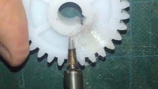 plastic welding is VERY effective (fixing heavy duty plastic gears)