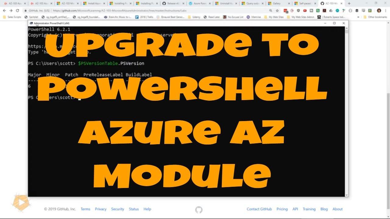 Azure PowerShell Scripting Tutorial: Install PowerShell Core
