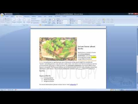 How to use Microsoft Word Part 3