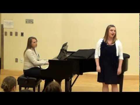 Olivia Robinson singing American Lullaby by Gladys Rich