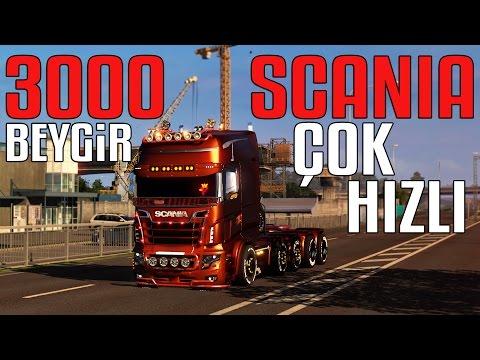 Scania 3000 BEYGİR!!! | YERİNDE DURMUYOR | Euro Truck Simulator 2