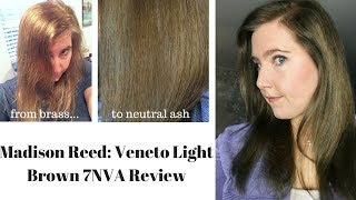Madison Reed Hair Color: From Brass to Neutral Ash (Veneto Light Brown 7NVA)