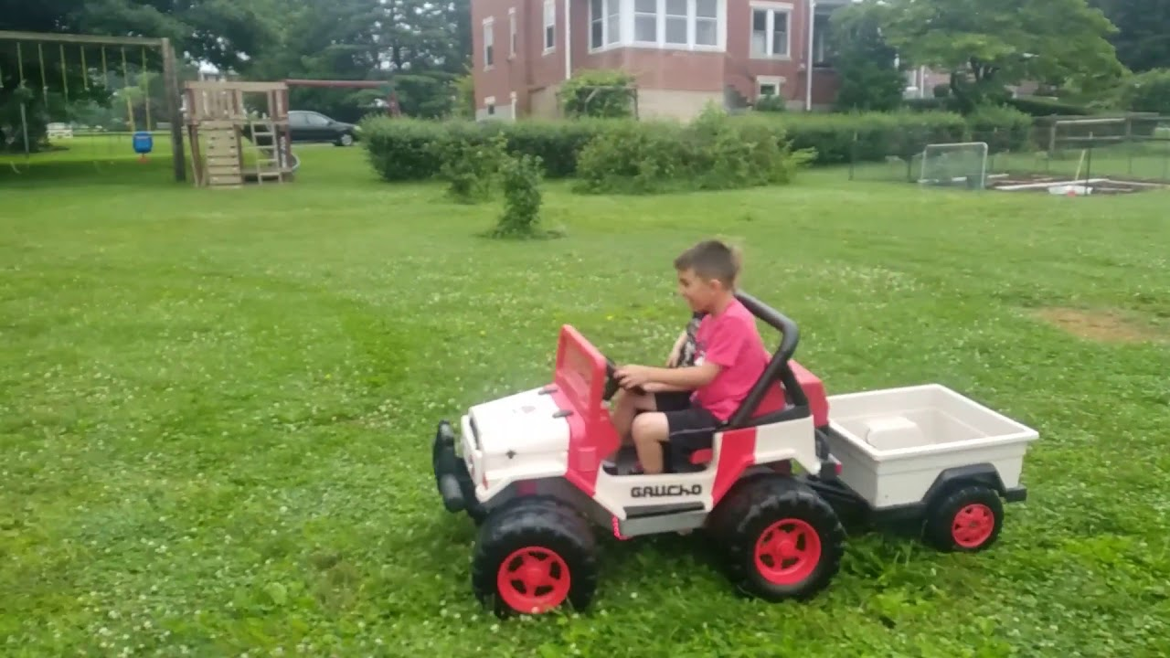 Jurassic Park Power Wheels Jeep - Paint / LED Lighs / Easy