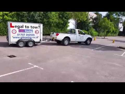 B+E Trailer Towing Test Reversing Manoeuvre 2018