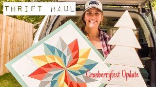 QUICK Half Hour Thŗift Haul - Thrift with Me - Cranberryfest Update