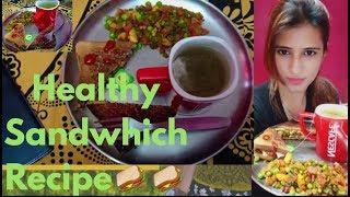 Chicken Veggies Healthy Sandwhich /चिकन सैंडविच रेसिपी (बनाने की विधि)