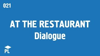 Learn European Portuguese (Portugal) - lesson 021 - Dialogue: at the restaurant