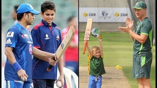 Cricketers Teaching Cricket to Their Children