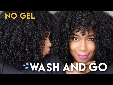 Fluffy Soft Wash And Go WITHOUT GEL - No Gel Defined Type 4 Natural Hair