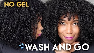 vuclip Fluffy Soft Wash And Go WITHOUT GEL - No Gel Defined Type 4 Natural Hair