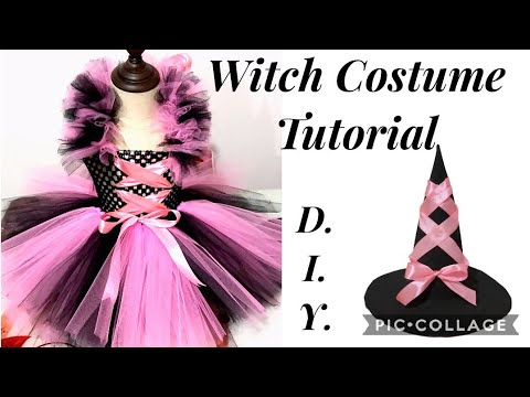 Diy Halloween Witch Costume For Baby Girls Kids Toddler How To Make Easiest Halloween Costume Youtube