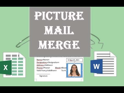 How to Mail Merge Excel data and images in Microsoft Word? Picture Mail Merge.