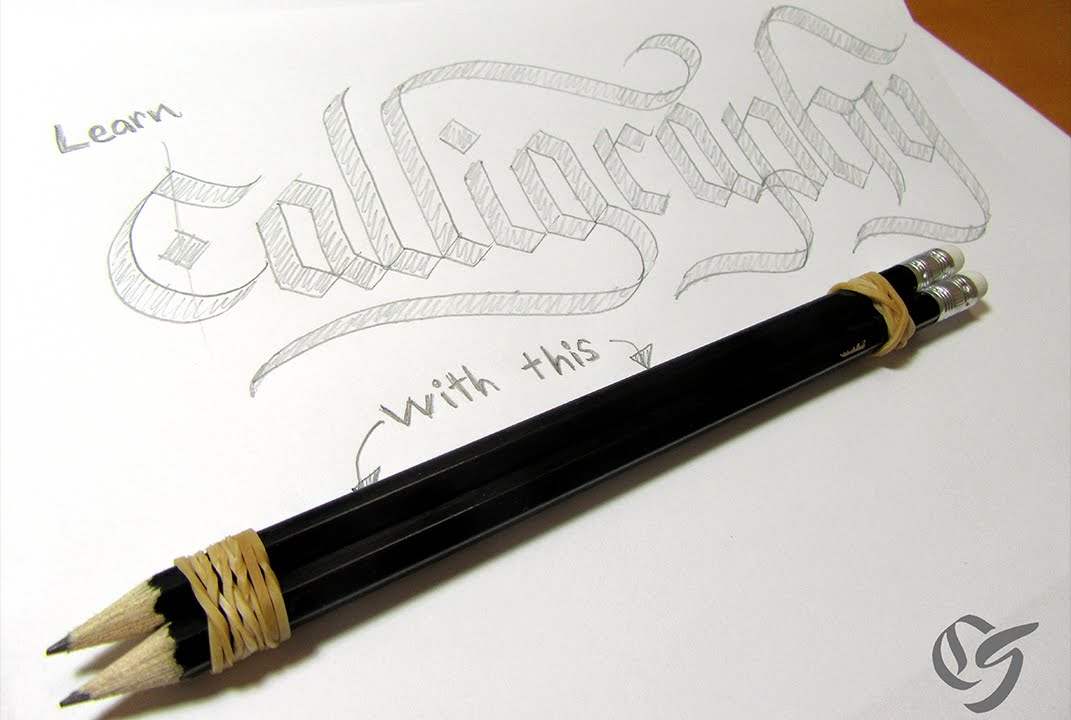 How To Do Calligraphy With A Pencil Tutorial Youtube