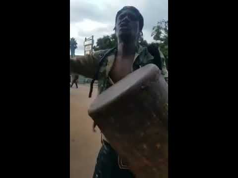 Malawian Street Artist  parody about George chaponda and corruption