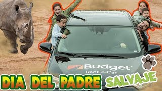 DÍA DEL PADRE de SAFARI en NUEVO coche de Budget // Familukis