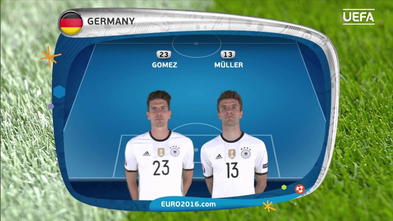Resultado de imagem para Italy line-up v Germany: UEFA EURO 2016