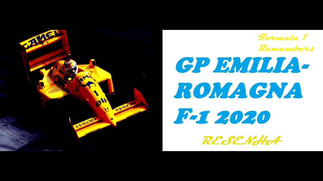 RESENHA GP EMILIA ROMANHA(ÍMOLA) F-1 2020  - SAUDADES DE SENNA E O FINAL DE SEMPRE