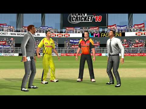 Playoffs 22th May IPL 11 Sunrisers Hyderabad Vs Chennai Super kings Real cricket 2018 Gameplay
