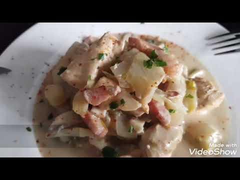 poêlée-d'endives-au-poulet-et-aux-champignons
