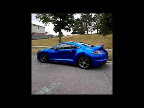 AMAZING Chrome Mitsubishi Eclipse 4G satin blue chrome frozen blue chrome vinyl wrap. By @CKWRAPS