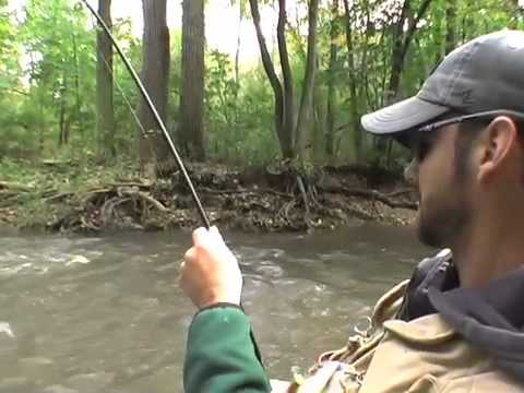 Jigheads small creek king salmon fishing show youtube for Small creek fishing