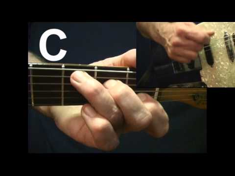 Beginner Guitar Trainer switching from G chord to C chord guitar lesson