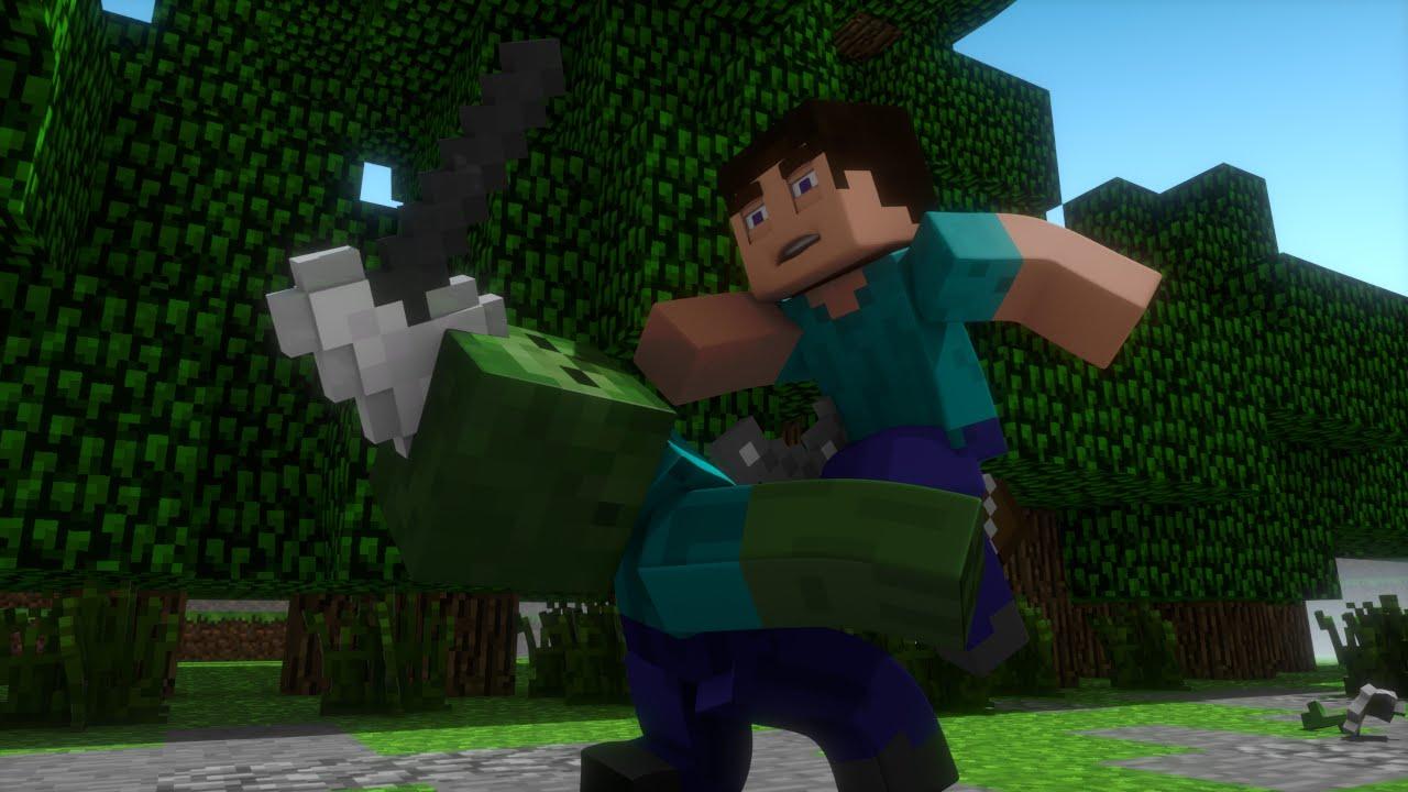 Zombie Elimination - Minecraft Fight Animation - YouTube