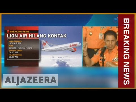 🇮🇩 Indonesia: Lion Air flight from Jakarta to Sumatra crashes | Al Jazeera English